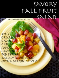 Savory Fall Fruit Salad