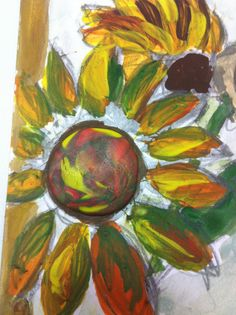 Sunflower post card Handmade post card by MesDessinsWatercolor