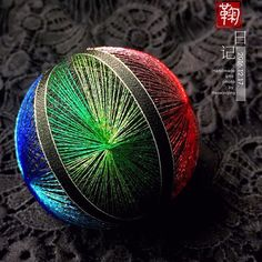 1 million+ Stunning Free Images to Use Anywhere Japanese Embroidery, Embroidery Art, Embroidery Patterns, Temari Patterns, Free To Use Images, Christmas Balls, Xmas, Weaving Art, Ball Ornaments