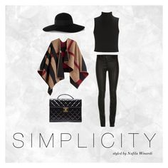 """SIMPLICITY"" by nafila-winardi on Polyvore featuring Burberry, Elizabeth and James, Eugenia Kim and Chanel"
