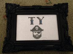 NAME CROSS STITCH TY - PIRATE  LITTLE RED STITCHES