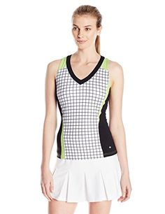 Boll Womens Twist of Lime Print Tank Top with Bra White Medium *** You can get more details by clicking on the image.Note:It is affiliate link to Amazon.