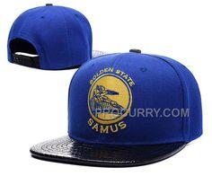 6c596a62fed90 Warriors Cartoon Logo Blue Adjustable Hat LH New
