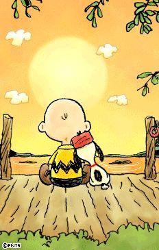 Le bonheur c'est de regarder un coucher de soleil avec un ami