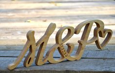 4 inches Free Standing Wood Initials, Personalized Wedding Anniversary Gift Thanksgiving Day Gift Script Words, Wood Letters Home Decor 5th Anniversary Gift Ideas, Wedding Anniversary Gifts, Wedding Gifts, Handmade Wooden Toys, Wooden Gifts, Wood Initials, Beeswax Polish, Ring Holder Wedding, Diy Gifts For Him