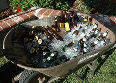 Beer Tasting Birthday, Water Jugs, Frozen Water, Trash Bag, Recycling Bins, Wheelbarrow, Wine Rack, Beats, Fill