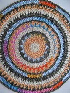 mandala crochet rug.