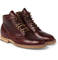 Viberg - Leather Lace-Up Boots | MR PORTER