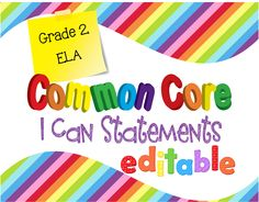 Editable I Can Statements that are simple and clear. They will match nearly any classroom theme. $5.00