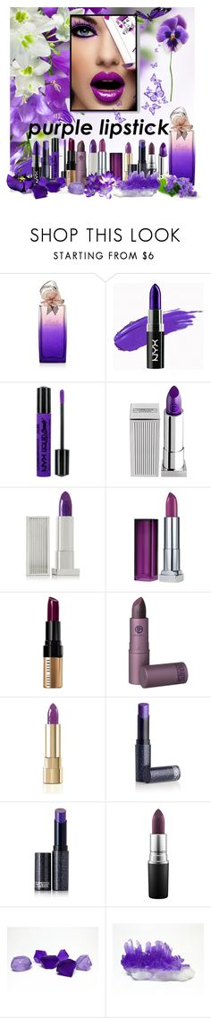 """Purple Lipstick"" by crisvalx-cv ❤ liked on Polyvore featuring beauty, Hanae Mori, NYX, Lipstick Queen, Maybelline, Bobbi Brown Cosmetics, Dolce&Gabbana and MAC Cosmetics"