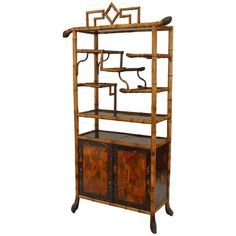 19th c. English Bamboo Etagere | From a unique collection of antique and modern shelves at http://www.1stdibs.com/furniture/storage-case-pieces/shelves/