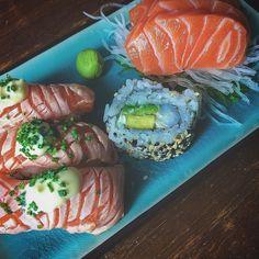 Sushi time #lunch #sushi #nigiri #maki #sashimi #food #foodie #foodgasm #instafood #healthyfood #foodlover by tuuli.b
