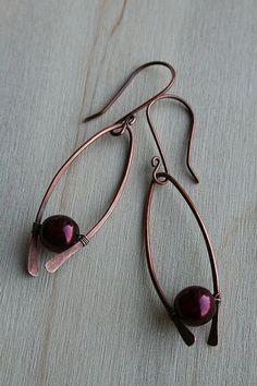 Chocolate twist earrings
