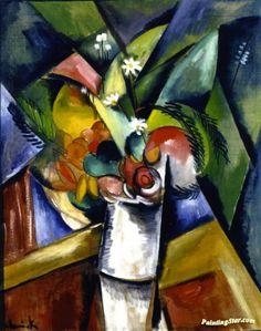 Flowers, by Maurice de Vlaminck (French, Art Fauvisme, Fauvism Art, Henri Fantin Latour, Georges Braque, Maurice De Vlaminck, Francoise Gilot, Expressionist Artists, European Paintings, Henri Matisse