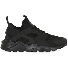 Nike Men Air Huarache Ultra Mesh Sneakers ($130) ❤ liked on Polyvore featuring men's fashion, men's shoes, men's sneakers, shoes, black, mens black sneakers, mens sneakers, mens mesh sneakers, nike mens sneakers and mens shoes