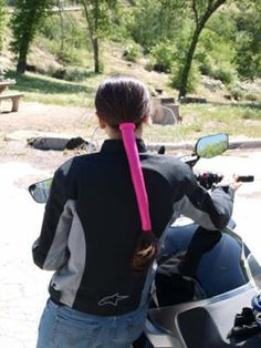 The Wrapter Is A Really Good Idea To Protect Long Hair If You Ride Bike