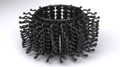 3D printed bracelet, rendering by Victor Tolansky