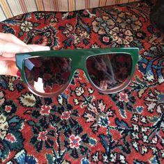 Celine Sunglasses Used Celine sunglasses! Authentic! Green and brown ombré colour. Celine Accessories Sunglasses