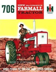 International Harvester Tractor- IH Farmall 706 Ad Poster Diesel Farm Tractor International Harvestor 1965