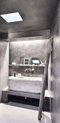 = stone basin and concrete