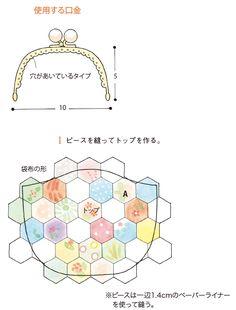 最近は、便利でかわいい副資材がたくさんありますね。 はぎれや余った布をパッチワークでレトロっぽいがま口を作ってみました。 いろいろなサイズがあるので作るのが楽しくなりますよ。 Purse Patterns, Sewing Patterns, Rag Quilt, Quilts, Coin Purse Tutorial, Japanese Patchwork, Frame Bag, Hexagon Quilt, Quilted Bag