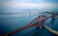 Britain From Above: Month by Month by Jason Hawkes | Both bridges over the Forth but it is the railway bridge that steals the show.