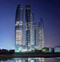 Architecture of Jumeirah Etihad Towers in Abu Dhabi. #Luxury #Hotel #Travel