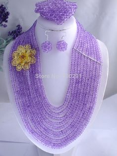 Free Shipping !!! A-1187 Amazing Fashion Crystal Jewelry Set African Wedding Necklace With Spacer $63.01