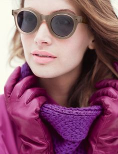 Color of the Year 2014 - Radiant Orchid fashion Magenta, Purple Hues, Shady Lady, Sunglasses Outlet, Pantone Color, Leather Gloves, My Favorite Color, High Fashion, Purple Fashion