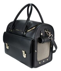 Luxurious Leather Wondernest Travel Pet Carrier In Black More