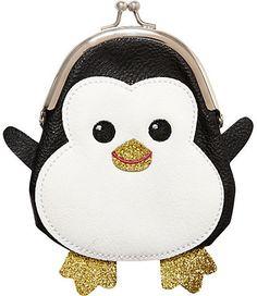 River Island Girls black penguin purse on shopstyle.com
