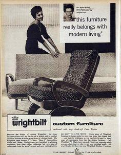 Wrightbilt Australian furniture, 1961
