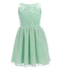 GB Girls 7-16 Lace Bodice Fit-and-Flare Dress