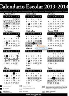 Calendario escolar 2013 -2014