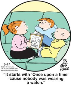 Family Circus is the epitome of the one-panel comic. (Dedicated to my Dad who loved this comic strip.)