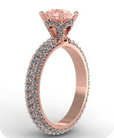 Rose Gold & Diamonds Wedding Ring - Etsy: FabianaJewels