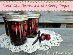 Vanilla Vodka Cherries aka Homemade Adult Shirley Temples (great Christmas gift idea)