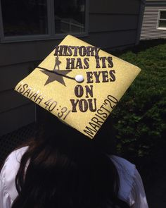 Hamilton inspired graduation cap! Along with a bible verse :) #hamilton