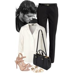 A fashion look from March 2015 featuring ESCADA blouses, H&M pants and Charles by Charles David sandals. Browse and shop related looks.