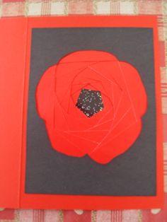 Poppy Iris Folding Card