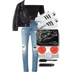 Untitled #4881 by olivia-mr on Polyvore featuring moda, Acne Studios, Alexander Wang, adidas, Cartier, Garrett Leight and Chanel