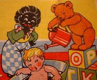 Golliwog Stereotype Images - The Golliwog Caricature - Anti-black Imagery - Jim Crow Museum - Ferris State University Children's Book Illustration, Book Illustrations, Old Cabins, Jim Crow, Postcard Art, Vintage Pictures, Childrens Books, Illustrators, Old Things