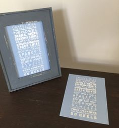 A personal favorite from my Etsy shop https://www.etsy.com/listing/233770841/unc-tarheel-print-fits-5x7-frame
