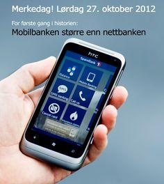 Nå feirer vi litt! Du er med på å skrive historie - fordi du er tidlig ute med å ta i bruk nye banktjenester på mobil. http://www.sparebank1.no/mobilbank