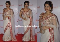 Wearing a 'Trupsel' sari, Shaheen attended the launch of the store. Between the gota work on the net sari and the blouse, this look could've easily felt garish on most but it is to Shaheen's credit that she wears it so gracefully. She finished out the look with earrings from her own jewellery line and […]