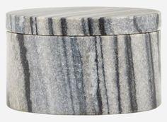 Fr0851 - Opbevaring, Marble, grå marmor, dia.: 10 cm, h.: 6 cm