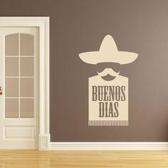 Kitchen Artwork   Buenos Dias Mexican Kitchen Wall Art Sticker Wall Mural  Wall Decal DIY