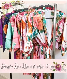Cool friends gifts will be the gifts which get just slightly one-of-a-kind and out of the ordinary. Bridal Robes, Bridal Gifts, Wedding 2017, Wedding Day, Bridesmaid Robes, Watercolor Rose, Polyester Satin, Kimono Fashion, Groomsman Gifts