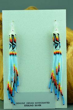 Beaded Native American Earrings Navajo | Beaded Native American Earrings | Native American Beadwork