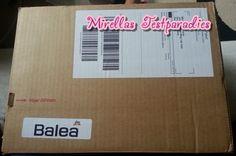 Von dm bekam ich ein großes Testpaket mit Balea Cremes.